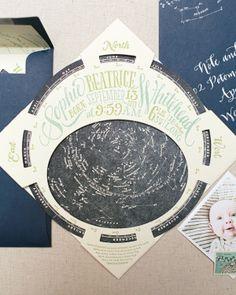 Constellation Starfinder Birth Announcements Ladyfingers Letterpress Oh So Beautiful Paper4 300x375 Sophies Constellation Starfinder Birth A...