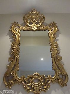 French Rococo Gilded Wood Mirror in Home & Garden, Home Décor, Mirrors | eBay