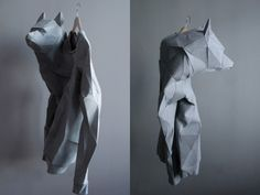 Origami Wolf Side view