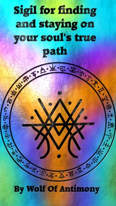 Sigil created by wolf of antimony Wiccan Symbols, Magic Symbols, Viking Symbols, Viking Runes, Egyptian Symbols, Ancient Symbols, Wiccan Spell Book, Magick Book, Wiccan Spells
