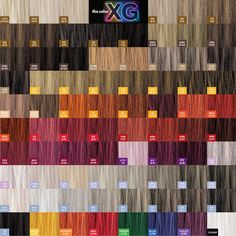 Paul Mitchell XG - the color - shades patchwork.