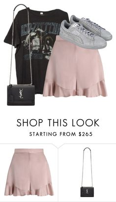 """""""Untitled #2179"""" by ritaraho ❤ liked on Polyvore featuring Brandy Melville, Zimmermann, Yves Saint Laurent and Puma"""