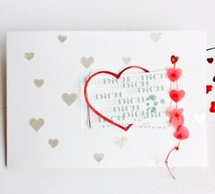 "* Cards arc *, tracing paper red *, punch Frame Heart * * Texture Paste *  (red beads + * fine glitter powder true red * + * embossing folders * ""from the current creative box red "") Folder heart of punches  homemade"