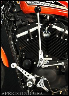 Sportster 04 & Up Jockey Shift Kit, Stainless - SPEEDKING