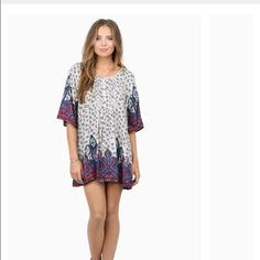 Tobi dress size small flower print tunic, never worn, great condition Tobi Dresses Long Sleeve