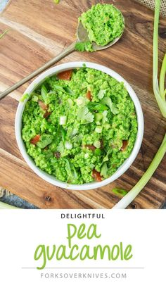 This pea guacamole tastes so much like the real thing that most people won't be able to guess what it is made from.