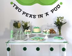 "Peas in a pod / Baby Shower ""'Two Peas in a pod' a twin baby shower"" 