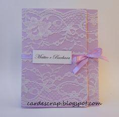 Card e Scrap: Wisteria weeding invitation