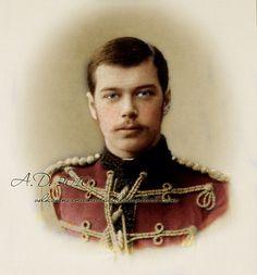 Tsarevich Nicholas Alexandrovich, the furture ill-fated Tsar Nicholas II. of Russia, last Romanov on the Imperial throne.