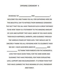 Quotes about Wedding : Wedding Quotes : Dreams Riveria Cancun Opening Ceremony script… –. Wedding Ceremony Ideas, Wedding Mc, Wedding Readings, Trendy Wedding, Perfect Wedding, Wedding Ceremonies, Mc Wedding Script, Garden Wedding, Dream Wedding