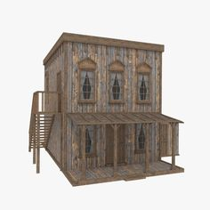 Forte Apache, Old West Town, House 3d Model, Architectural Styles, Ghost Towns, Westerns, Cabin, Models, Architecture