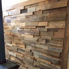 Authentic Reclaimed Barn Wood prefabricated stacked wall panels for just $45 per panel. Real American Barn Wood pieces stacked into a single pre-fab mosaic panel you can install yourself. Transform a