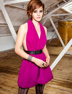 I like this dress, color, and look  EMMA WATSON FANCLUB: New Exclusive Outtake of Emma Watson for Glamour US (2012)