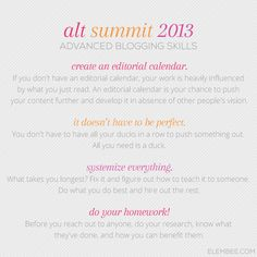 Alt 2013 // Advanced blogging skills // Elembee.com