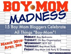 Y'all! I am so excited to be participating in the BOY-MOM MADNESS series this week.... and today we're talking boy rooms!