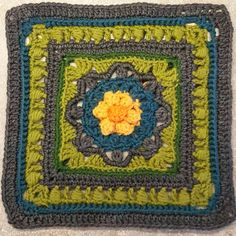 Kalevala CAL - Part 3 - Birth of the World - free crochet square pattern in multiple languages. Free Crochet Square, Crochet Square Patterns, Crochet Squares, Crochet Granny, Crochet Motif, Double Crochet, Crochet Flowers, Granny Squares, Foundation Piecing