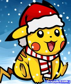How to Draw Christmas Pikachu