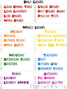 Cleaning Schedule....now to actually do it....
