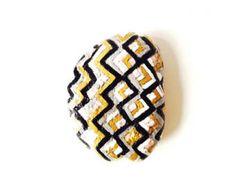 GALET PEINT, objet décoratif, zen, noir, argenté, rose, blanc, pebble art, All things natural