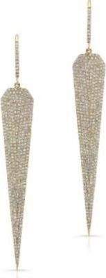 Anne Sisteron 14kt Yellow Gold Diamond Jennifer L Earrings as seen on Nina Dobrev