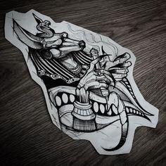 Tattoo Designs for Future Tattoos - Art - Tattoo Dog Tattoos, Black Tattoos, Body Art Tattoos, Sleeve Tattoos, Anubis Tattoo, Tattoo Sketches, Tattoo Drawings, Future Tattoos, Tattoos For Guys