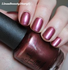 OPI Mauving to Manitoba. Great boring standard. Doesn't seem to look this good on my nails.