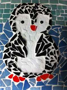 Image of: Byzantine Mosaic Penguin Baby Shower Gift Idea Paper Mosaic Mosaic Crafts Mosaic Projects Pinterest 107 Best Animals Images Dog Cat Gatos Glass Art