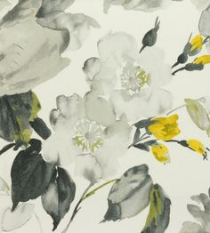 Interior Design Trend, Painterly Florals | Albion Fabric by Wemyss | Jane Clayton