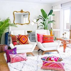 It's true that getting the pure bohemian look in your house decoration is not a difficult task. But before doing it, keep few points in mind and that is the neat and clean appearance of the room. You can use a mirror art, can locate plants and some stylish, patterned cushions at your place.