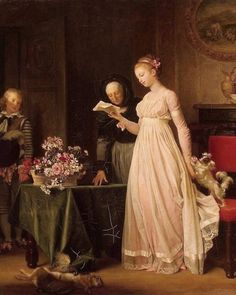 Reading Note with Gift, 1788. Marguerite Gérard (French, 1761-1837).