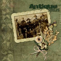 Antique Smiles ~ Heritage digi page.