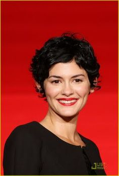 Audrey Tautou Brings Coco Chanel To Japan Short Curly Pixie, Short Pixie Haircuts, Short Hair Cuts, Audrey Tautou, Curly Hair Tips, Curly Hair Styles, Pelo Pixie, Sandro, Remy Hair Extensions