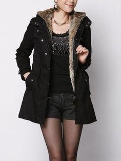 New Arrival Lapel Long Sleeve Trench-coat | fashionmia.com