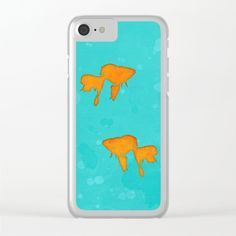 #iphone #cases #phonecase #goldfish #minimalist #turquoise #orange