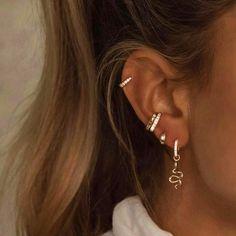 How To Wear Cartilage Helix Hoop Pin Piercing Earrings Inspiration Idea Jewelry Nickel Free Jewelry . - How To Wear Cartilage Helix Hoop Pin Piercing Earrings Inspiration Idea Jewelry Nickel Free Loop St - Ear Piercing Studs, Cute Ear Piercings, Ear Studs, Ear Piercings Conch, Peircings, Anti Tragus Piercing, Cartilage Hoop, Multiple Ear Piercings, Triple Ear Piercing