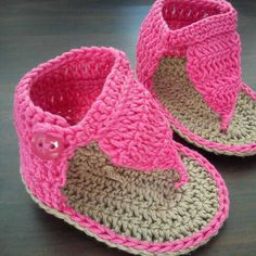 Zandalias Para Bebe a Crochet!!!
