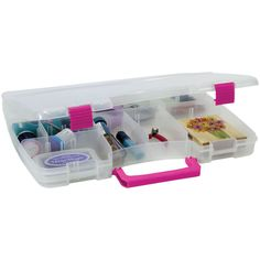 Creative Options Pro Latch Connectable Satchel - Clear/Magenta