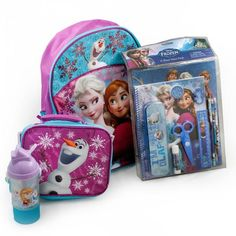 Disney Frozen Backpack and Lunch Bag School Supplies and Sippy Bottle Snack Container - Apparel - Little TroubleMakers -… Frozen Bag, Frozen Dolls, Cute Best Friend Gifts, Bff Gifts, Frozen Elsa And Anna, Disney Frozen, Batterie Samsung, Minnie Mouse Toys, Frozen Merchandise