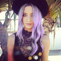 light liliac purple. TIP: to get this colour and still have healthy hair you to start with naturally blonde hair.