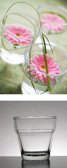 This clear glass Mini Flower Pot is perfect holder for any votive candle or flower.