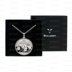 2013 Chinese Silver Panda 1oz Pendant- COIN EDGE in a Bullmint display box