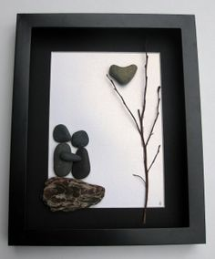 Unique Engagement Gift- Personalized Couple's Christmas Gift -  Pebble Art - Love Gifts on Etsy, $70.00 CAD