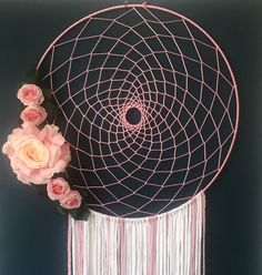 Rosa Rose, Dream Catcher, Etsy, Vintage, Awesome Things, Shopping Mall, Pink, Inspiration, Handmade