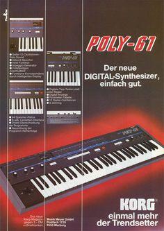 KORG Poly-61 Anzeige 1983