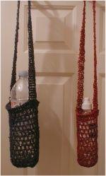 hemp crocheted water bottle slings