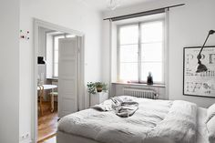 A cosy monochrome space in Stockholm