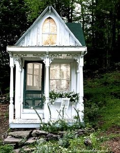 A Unique Garden Shed....come inside (see next pin)!  Read about its owner, Sandra Foster, here:  http://www.nytimes.com/2010/06/24/garden/24cottage.html?_r=0
