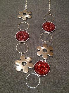 nespressart bijoux: febbraio 2013 Coffee Pods, Bijoux Diy, Enamel Jewelry, Jewelry Crafts, Creations, Jewelry Making, Drop Earrings, Silver, Nescafe