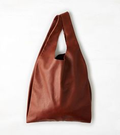Brown Baggu Leather Tote. Love the shape of this bag.