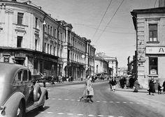 Улица Горького до реконструкции, 1946 год (Фото: Эммануил Евзерихин / Фотохроника ТАСС)